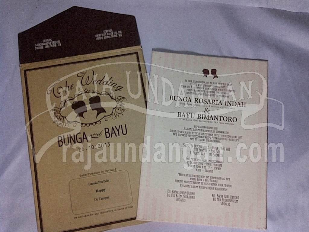 Undangan Single Hardcover Vintage Dengan Amplop (EDC 98)