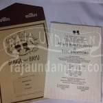 Undangan Single Hardcover Vintage Bunga & Bayu Pakai Amplop (EDC 98)