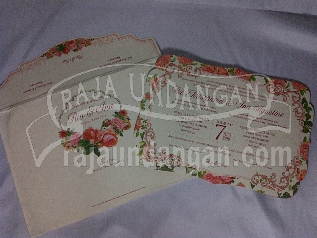 Undangan Single Hardcover Amplop Vintage